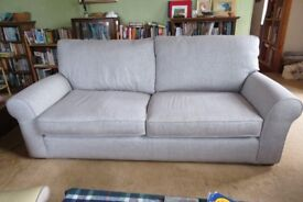 Elegant grey tweed 3-4 seat sofa in excellent condition