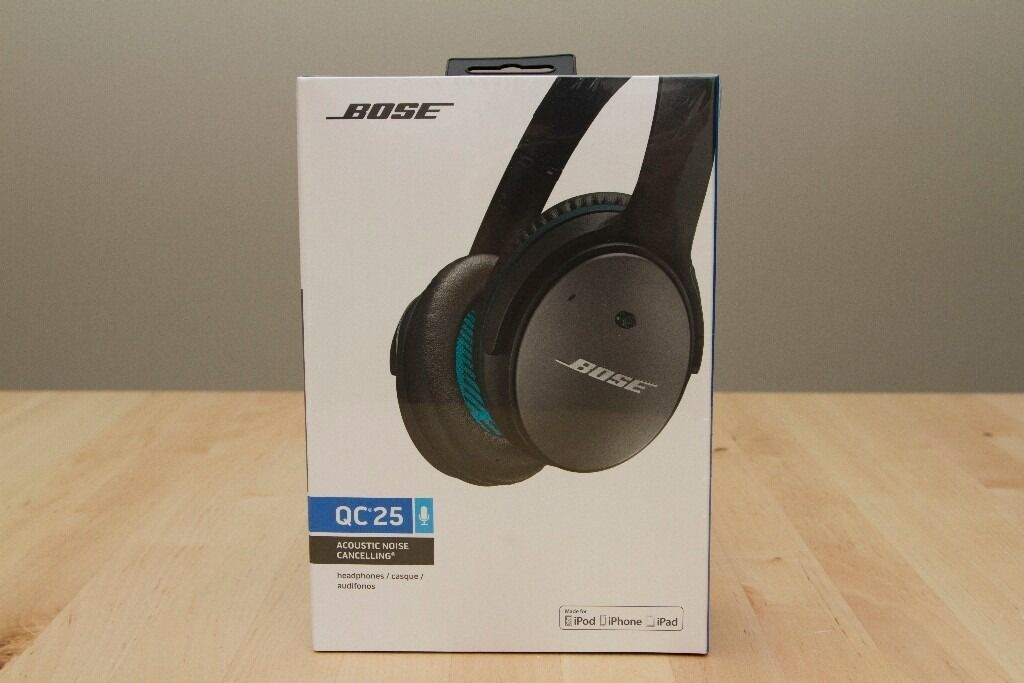 BOSE QC25 headphones Noise cancelling black brand new with receipt ...