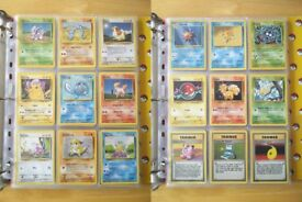 Pokemon cards - Complete Base Set 1 - Excellent Condition, in Pokemon folder - 102/102