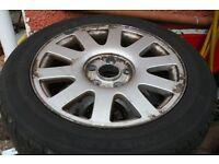 Audi A4 B5 1999 Speedline Alloy Wheels & Low Use 205 55 16 Tyres 4A0601025P VAG