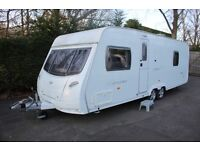 Lunar Lexon 2007 4 Berth Fixed Bed Twin Axle Caravan + Full Isabella Awning