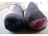 Kids sleeping bag for all seasons x 2 (pink and blue)