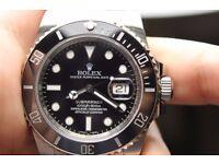 Men's Rolex Submariner Black Swiss ETA 2836