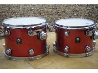 NATAL ORIGINALS Pro 'ASH' shelled 5 drum shell pack.