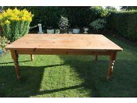 Rustic Farmhouse pine Table 7 ft x 4 ft