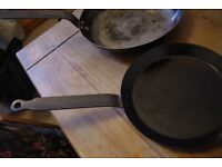 3 DeBuyer Iron frying pan, used