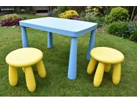 Ikea Mammut Table and Stools