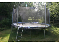 Upper Bounce Outdoor trampoline 14 foot wide with safety netting