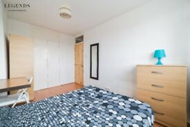 NICE DOUBLE ROOM TO RENT - DOUBLE USE - COUPLES WELCOME - ZONE 2 - MILE END - AVAILABLE TODAY