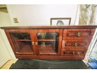 Dark Wood TV stand/ Display Cabinet/ Chest of drawers COLLECTION ONLY