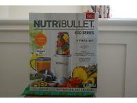 Nutribullet 600 - 8 Piece set new in sealed box.