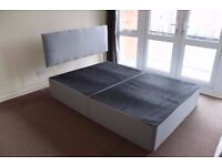 Double divan bed with head-board and memory foam mattress for sale