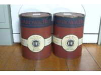 Two 5L tins Farrow & Ball 'Green Blue' Estate Emulsion