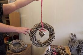 Willow wreath ring with love heart