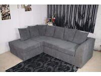Grey Left Arm Corner Sofa with High Density Foam Seats