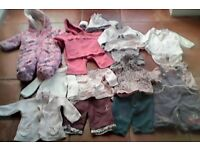 3-6 mths baby girl winter clothes