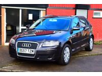2007 AUDI A3 SPECIAL EDITION TDI 1.9 DIESEL*SERVICE HISTORY*NEW MOT *2 KEYS*TINTED WINDOWS**