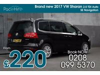 VW Sharan 7 seater PCO hire / rent - UBER Hire ready - Better than Ford Galaxy - Diesel auto