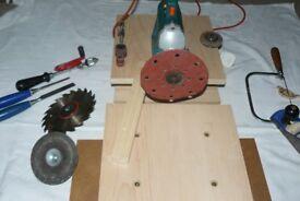 Drill, Tabletop workbench, B&Decker Drill,