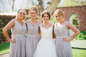 4 x Dessy 2897 Taupe Bridesmaid Dresses New & Used