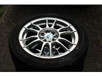 4 WR Alloy Wheels Citroen C1 and Firenza Tyres 15 inch