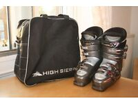 Nordica Mens Ski Boots Size 6.5 With Bag