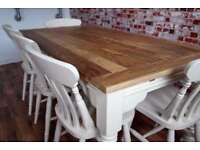 Up to 12 Seater Rustic Farmhouse Extending Dining Table Set - Farrow and Ball