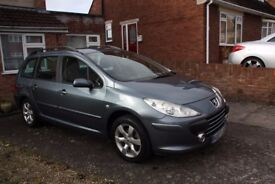 Peugeot 307 SW Estate, great condition, FSH, long MOT, new tyres