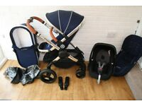 iCandy Peach 3 Royal Blue pram and car seat travel system 3 in 1 *can post*