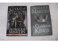 Game of Thrones and A Clash of Kings Books - fab condition. Price shown is for the pair.