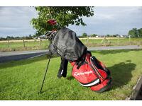 Golf Clubs Full Set: Nike Covert 2.0 Woods, Mizuno Irons, Odyssey Putter + Tees + Approx. 250 Balls