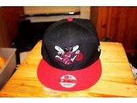 Black/Red Charlotte Hornets NEW ERA Snapback Hat Cap. Unisex