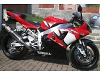 YAMAHA YZF R1 (CARBS) 2002 FULL MOT IMMACULATE £3250 ono for sale  St Austell, Cornwall