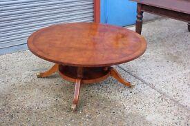 A Sheraton Style Circular Walnut Coffee Table