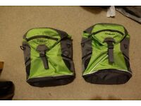 2x Cordo 12L pannier bags with waterproof covers and luggage straps