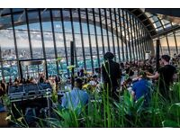Back of House Porter - rhubarb at The Sky Garden