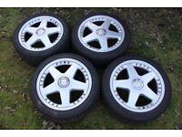 "17 Inch OZ Futura II Alloy Wheels - 8x17"" Split Rims - BMW Fit + Winter Tyres"