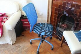 Ikea Desk chair for designed for kids and teenagers. Adjustable height with wheels. Only 2 years old