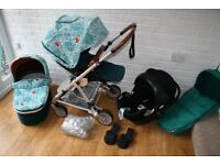 Mamas and Papas Urbo 2 Donna Wilson pram pushchair 3 in 1 with footmuff ***can post*