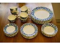 Royal Chelsea Plates, Cups and Bowls. 36 piece set