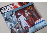 """Star Wars The Force Awakens SNAP WEXLEY / FIRST ORDER SNOWTROOPER OFFICER 3.75"""" figure 2-pack - NEW"""