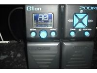 ZOOM G1 ON GUITAR EFFECTS PEDAL