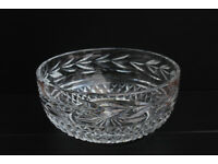 Large Vintage Waterford Crystal Bowl Irish Hand Cut Gothic Mark Cristal Fruit Bowl