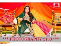 Asian Wedding Photography **£150 Photography**