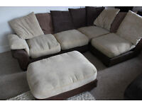 Very nice quality corner sofa, modular (4 pieces) so can be reconfigured - CAN DELIVER