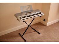 Electric Keyboard (Casio CTK-691) & Stand