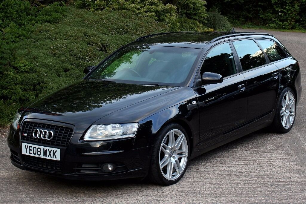 beautiful 2008 audi a6 avant 2 7 tdi le mans s line auto met black full black leather. Black Bedroom Furniture Sets. Home Design Ideas