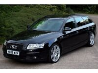 Beautiful 2008 Audi A6 Avant 2.7 TDI Le Mans S Line Auto, Met. Black, Full Black Leather Interior