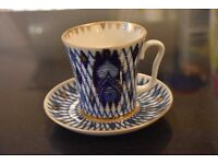 """Beautiful """"Imperial Russia"""" Cup and Saucer"""