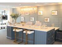 Ex display Kitchen Island solid oak with Silestone Quartz worktop